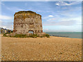 TQ6402 : Martello Tower, North of Sovereign Harbour by David Dixon