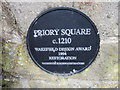 SE3516 : The plaque at Priory Square, Walton by Ian S