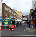 TQ2678 : Farmers Market at Bute Street South Kensington by PAUL FARMER