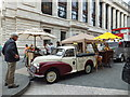 TQ2679 : Morris pick up in Exhibition Road South Kensington by PAUL FARMER