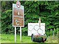 NJ3241 : Dufftown's Olympic Signs by Mary and Angus Hogg