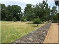 TL8161 : Path and wall at Ickworth House by Richard Humphrey