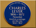 Photo of Charles Lever blue plaque