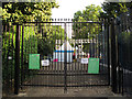 TQ3877 : Park gates closed for the Olympics by Stephen Craven