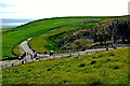 R0492 : Cliffs of Moher - Junction of Paths along Cliffs by Joseph Mischyshyn