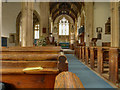 ST9168 : The Nave, St Cyriac's Church, Lacock by David Dixon