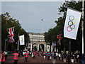 TQ2980 : The Mall during the 2012 London Olympic Games by Colin Smith