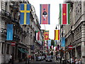 TQ2980 : Flags on King Street by Colin Smith