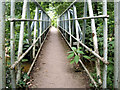SJ7885 : River Bollin Footbridge by Stephen Burton