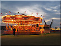 TQ3976 : Blackheath funfair : carousel by Stephen Craven