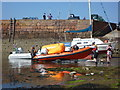 NT5585 : Coastal East Lothian : Orange Inflatables at North Berwick by Richard West