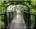 SK2958 : Footbridge over the River Derwent, Matlock Bath by Andrew Hill