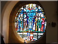 NT5585 : East Lothian Architecture : Stained Glass Window at St Andrew Blackadder, North Berwick by Richard West