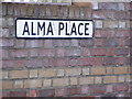 TM3863 : Alma Place sign by Adrian Cable