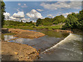 SD7606 : Former Weir, River Irwell at Ladyshore by David Dixon