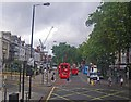 TQ2178 : Scene along Chiswick High Road by C Michael Hogan