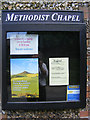 TM4275 : Wenhaston Methodist Chapel Notice Board by Adrian Cable