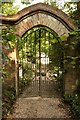 TQ5452 : Kitchen garden gate by Richard Croft