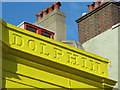 TQ3104 : Sign for The Dolphin Inn on the Drum Cavern, North Road / Foundry Street, BN1 by Mike Quinn
