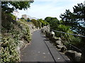 TR2235 : Top end of The Zig Zag Path, Folkestone by pam fray