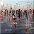 TQ8885 : Seafront Fountain by Roger Jones