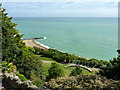 TR2235 : The Amphitheatre, Lower Leas Coastal Park, Folkestone by pam fray