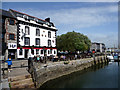 SX4854 : The Three Crowns Public House, Plymouth, Devon by Christine Matthews
