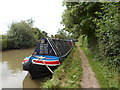 SP3997 : Working Narrow Boat Hadar moored outside Stoke Golding Marina by Keith Lodge