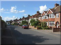 Dist:0.5km<br/>Looking north along this 1920s residential street at the western end of Addlestone.