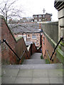 SJ8990 : Steps down to the Underbanks from St Petersgate by Robin Stott