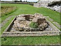 TR3260 : Richborough Castle Roman Fort - remains of font by Rob Farrow