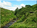 SK0068 : View north from the Packhorse Bridge by John Topping