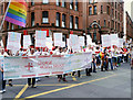 SJ8497 : Manchester Pride Parade - George House Trust by David Dixon