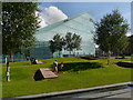 SJ8398 : Cathedral Gardens and The National Football Museum by David Dixon