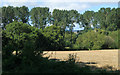 ST5759 : 2012 : Harvested wheatfield by Maurice Pullin