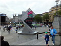 TQ2980 : Olympic Clock, Trafalgar Square, London by PAUL FARMER