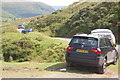 SO2335 : Car parking on Gospel Pass in August by Roger Davies