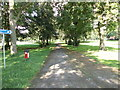 SE2930 : Footpath - Cross Flatts Park - Dewsbury Road by Betty Longbottom