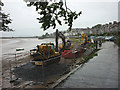 SD4578 : Engineering works, Arnside Promenade by Karl and Ali