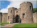 SJ5459 : Beeston castle: gateway by Stephen Craven