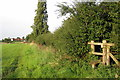 SP9535 : Stile on the path to Church End by Philip Jeffrey