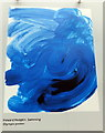 TQ3180 : Olympic Poster: Swimming by  Howard Hodgkin by PAUL FARMER