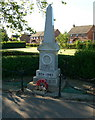 TF3731 : War memorial in Holbeach St Marks by Mat Fascione