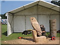 TF6927 : Sandringham Handicrafts Fair - competitive chainsaw carving by Peter Turner