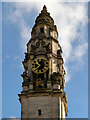 ST1876 : Clock Tower, Cardiff City Hall by David Dixon