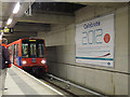 TQ3884 : DLR train arriving at Stratford International by Stephen Craven