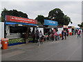 TQ3877 : Fast food stalls at Greenwich Park by Stephen Craven