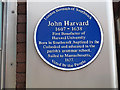 TQ3279 : Plaque to John Harvard by Stephen Craven
