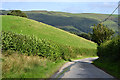 SH8905 : Minor road descending to Pandy Rhiw-Saeson by Nigel Brown