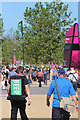 TQ3784 : Walking beer seller, Olympic Park by Oast House Archive